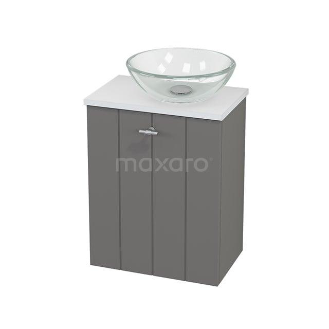Toiletmeubel met Waskom Glas Modulo+ Pico Basalt 41cm BMC000687