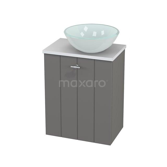 Toiletmeubel met Waskom Glas Modulo+ Pico Basalt 41cm BMC000688