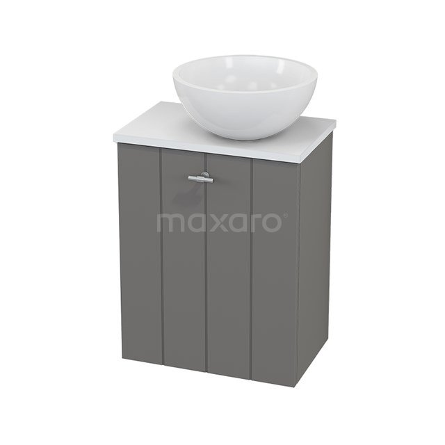 Toiletmeubel met Waskom Mineraalmarmer Glanzend Modulo+ Pico Basalt 41cm BMC000690
