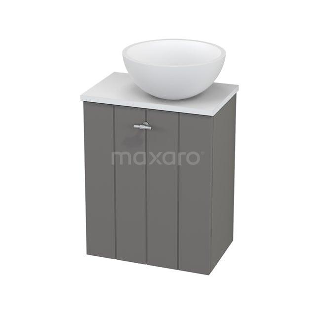 Toiletmeubel met Waskom Solid Surface Mat Modulo+ Pico Basalt 41cm BMC000691