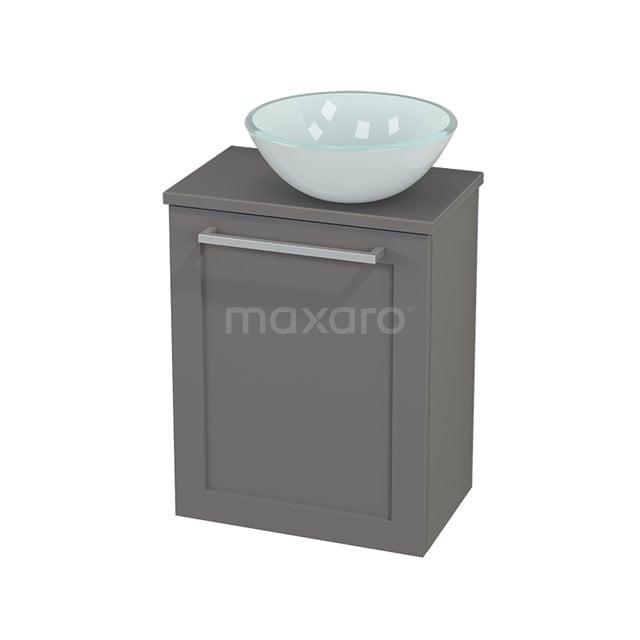 Toiletmeubel met Waskom Glas Modulo+ Pico Basalt 41cm BMC000702