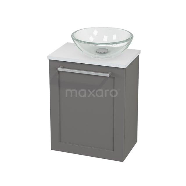 Toiletmeubel met Waskom Glas Modulo+ Pico Basalt 41cm BMC000708