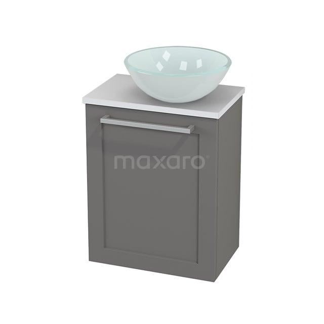Toiletmeubel met Waskom Glas Modulo+ Pico Basalt 41cm BMC000709
