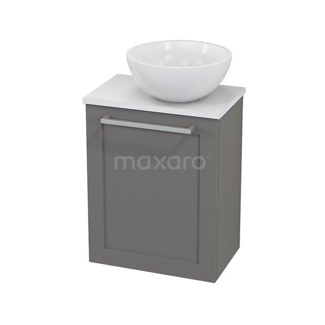 Toiletmeubel met Waskom Mineraalmarmer Glanzend Modulo+ Pico Basalt 41cm BMC000711