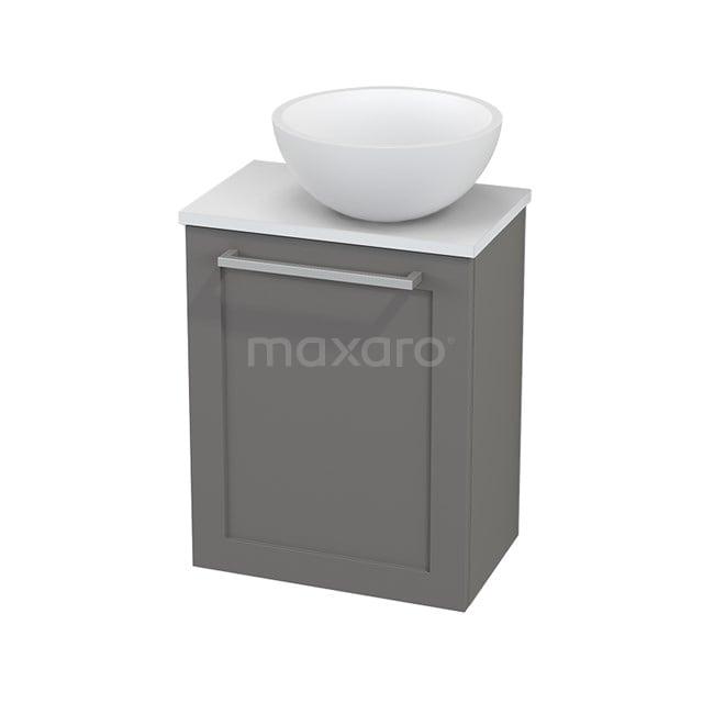 Toiletmeubel met Waskom Solid Surface Mat Modulo+ Pico Basalt 41cm BMC000712