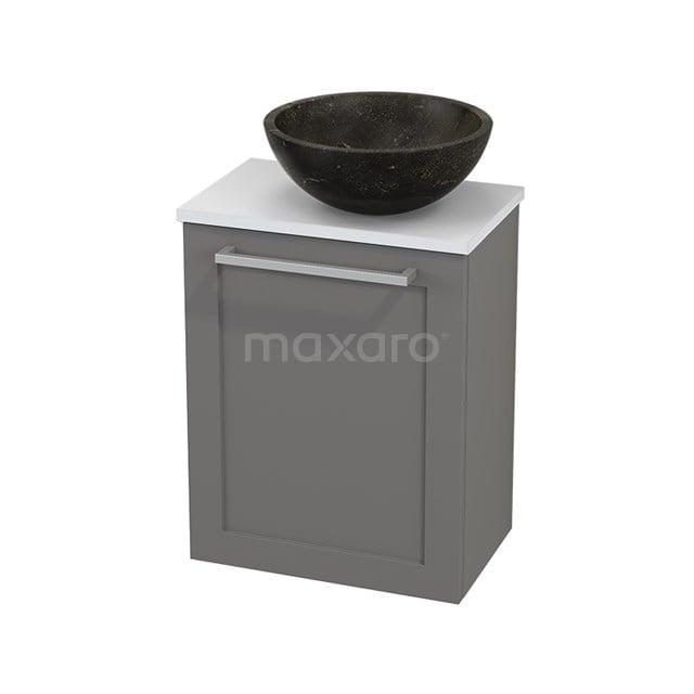 Toiletmeubel met Waskom Natuursteen Modulo+ Pico Basalt 41cm BMC000713