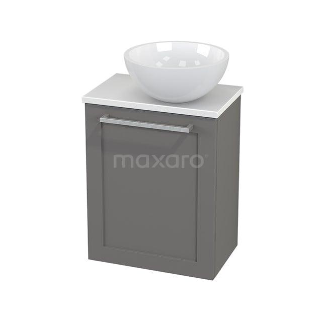 Toiletmeubel met Waskom Mineraalmarmer Glanzend Modulo+ Pico Basalt 41cm BMC000718