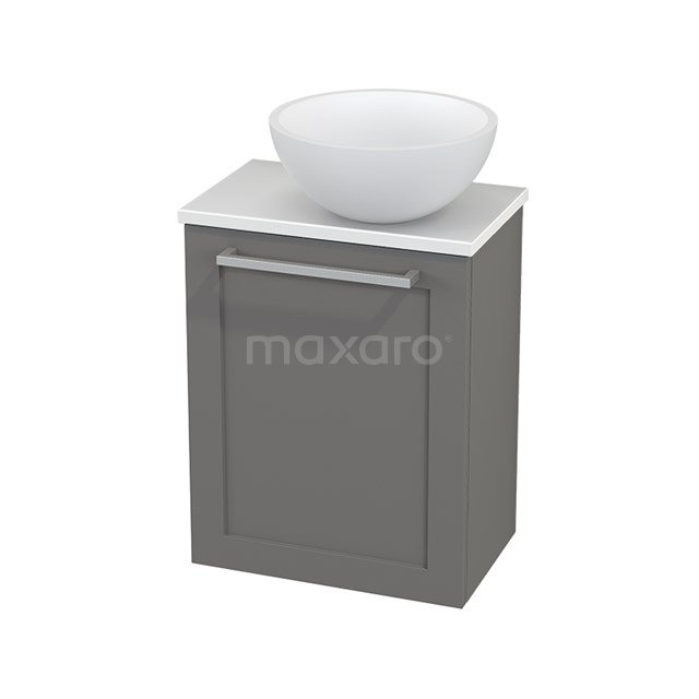Toiletmeubel met Waskom Solid Surface Mat Modulo+ Pico Basalt 41cm BMC000719