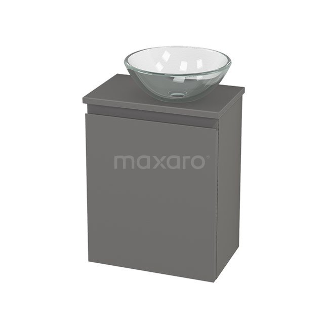 Toiletmeubel met Waskom Glas Modulo+ Pico Basalt 41cm BMC000722