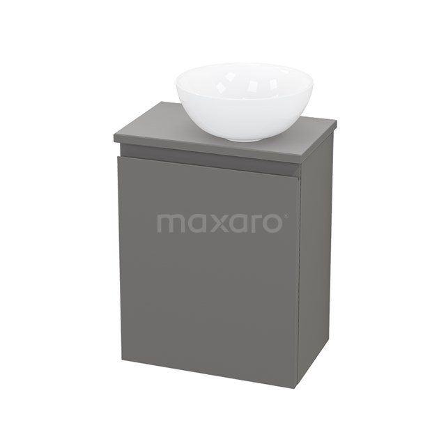 Toiletmeubel met Waskom Keramiek Modulo+ Pico Basalt 41cm BMC000724