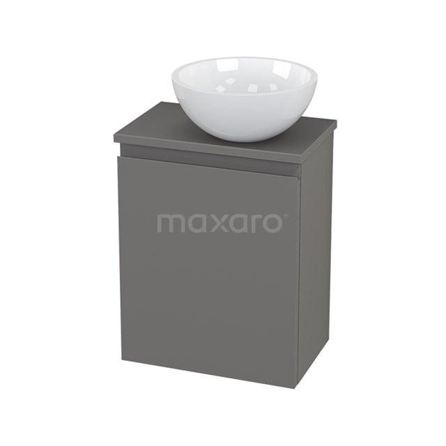 Toiletmeubel met Waskom Mineraalmarmer Glanzend Modulo+ Pico Basalt 41cm BMC000725