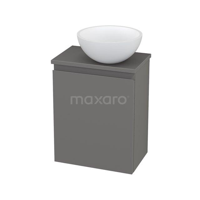 Toiletmeubel met Waskom Solid Surface Mat Modulo+ Pico Basalt 41cm BMC001446