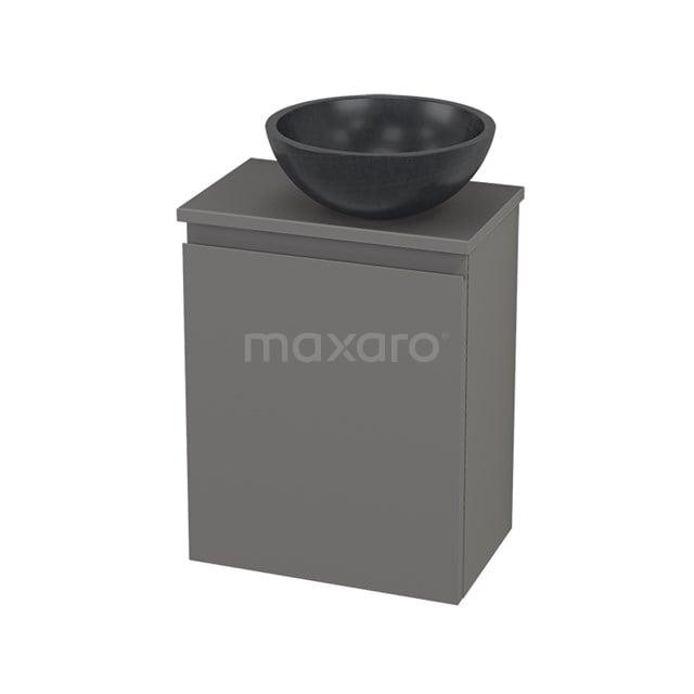 Toiletmeubel met Waskom Natuursteen Modulo+ Pico Basalt 41cm BMC001282