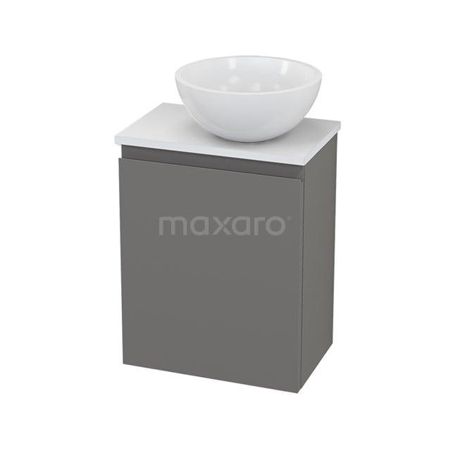 Toiletmeubel met Waskom Mineraalmarmer Glanzend Modulo+ Pico Basalt 41cm BMC000732