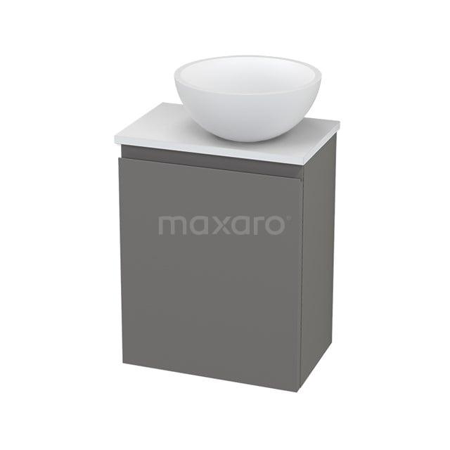 Toiletmeubel met Waskom Solid Surface Mat Modulo+ Pico Basalt 41cm BMC001448