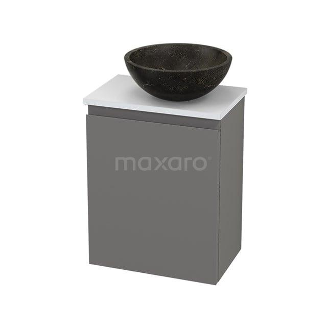 Toiletmeubel met Waskom Natuursteen Modulo+ Pico Basalt 41cm BMC001294
