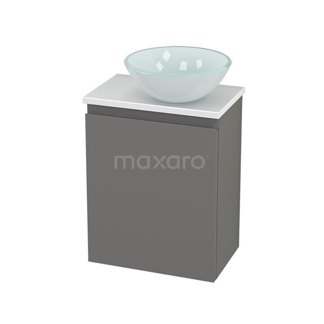 Toiletmeubel met Waskom Glas Modulo+ Pico Basalt 41cm BMC000737