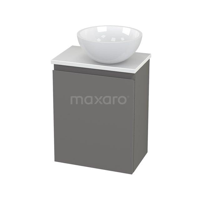 Toiletmeubel met Waskom Mineraalmarmer Glanzend Modulo+ Pico Basalt 41cm BMC000739