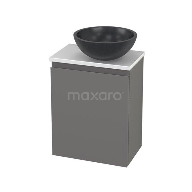 Toiletmeubel met Waskom Natuursteen Modulo+ Pico Basalt 41cm BMC001291