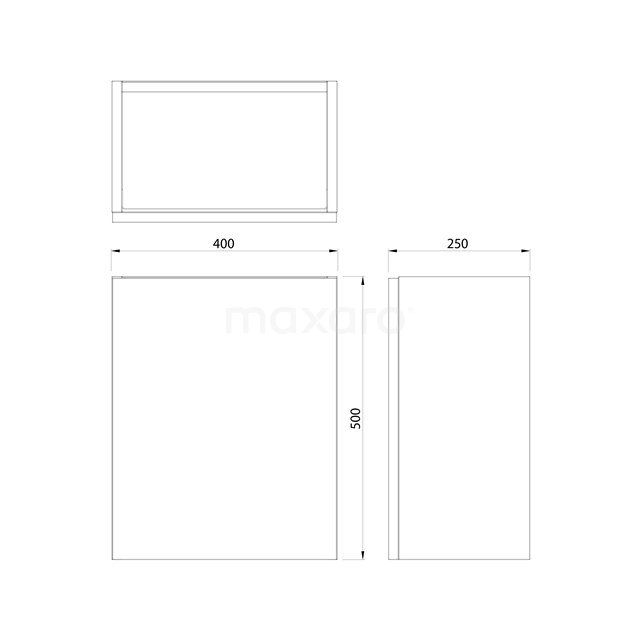 Toiletmeubel met Waskom Solid Surface Mat Modulo Hoogglans Zwart 41 cm TMK10-00062