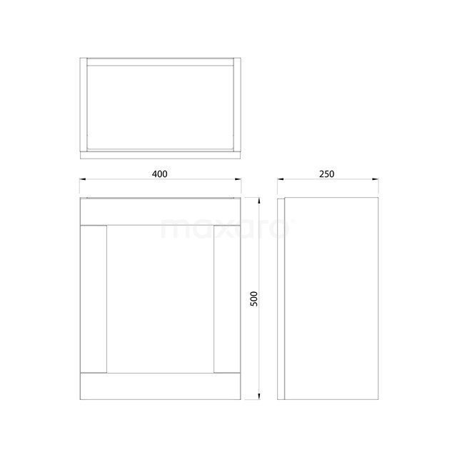 Toiletmeubel met Waskom Solid Surface Mat Modulo Donkerbruin Eiken 41 cm TMK10-00139