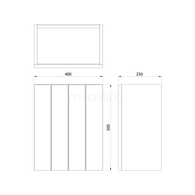 Toiletmeubel met Waskom Quartz Modulo Hoogglans Zwart 41 cm TMK10-00070