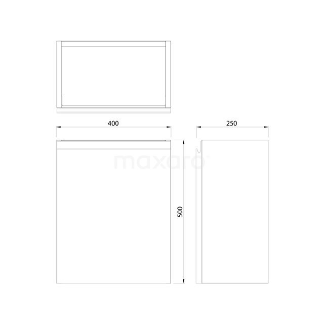 Toiletmeubel met Waskom Mineraalmarmer Glanzend Modulo Hoogglans Zwart 41 cm TMK10-00075