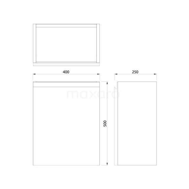 Toiletmeubel met Waskom Solid Surface Mat Modulo Hoogglans Zwart 41 cm TMK10-00083