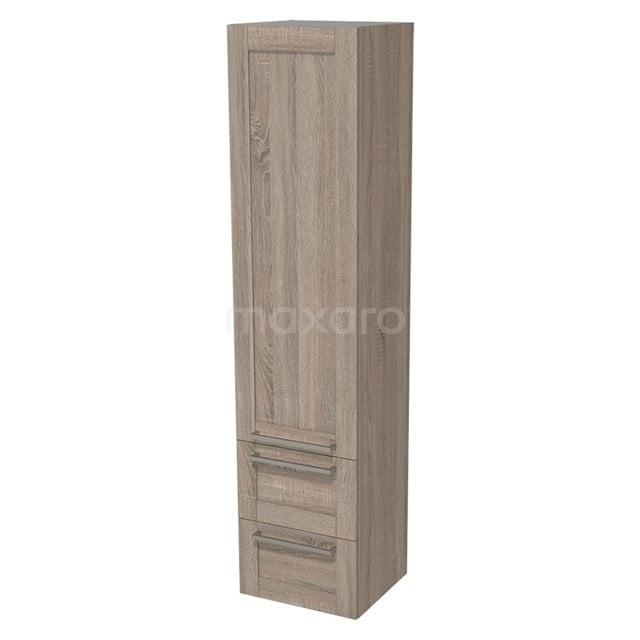 Badkamerkast Lungo 170x40cm Eiken 1 Deur Kader BKK10-00039