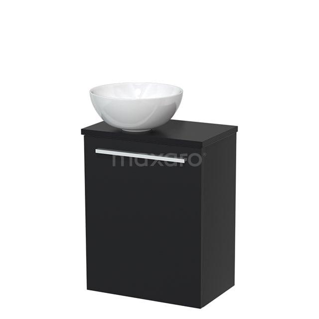 Toiletmeubel met Waskom Keramiek Modulo Mat Zwart 41 cm TMK10-00001