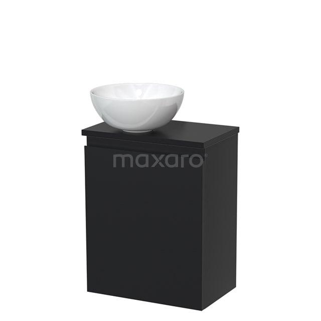 Toiletmeubel met Waskom Keramiek Modulo Mat Zwart 41 cm TMK10-00015