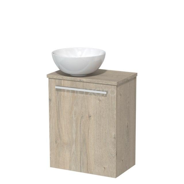 Toiletmeubel met Waskom Keramiek Modulo Lichtgrijs Eiken 41 cm TMK10-00085