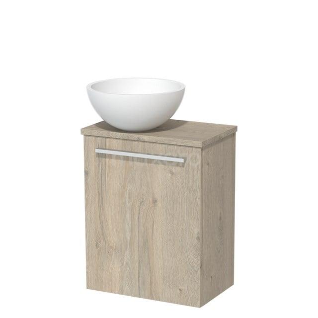 Toiletmeubel met Waskom Solid Surface Mat Modulo Lichtgrijs Eiken 41 cm TMK10-00090