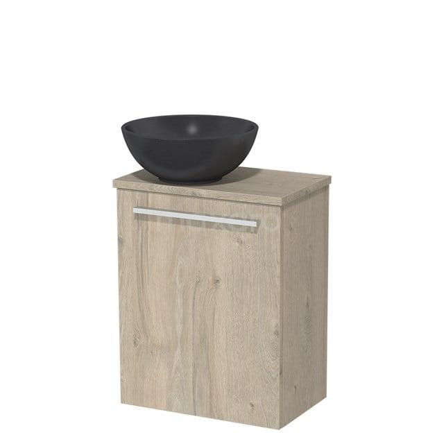 Toiletmeubel met Waskom Quartz Modulo Lichtgrijs Eiken 41 cm TMK10-00091