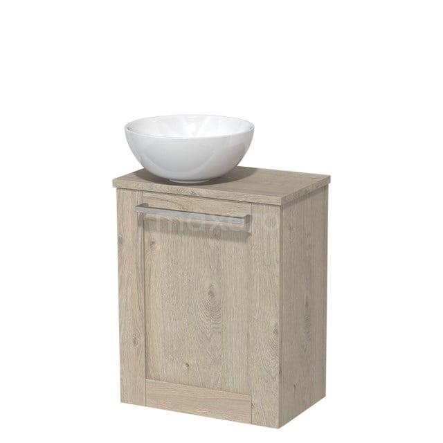 Toiletmeubel met Waskom Keramiek Modulo Lichtgrijs Eiken 41 cm TMK10-00092