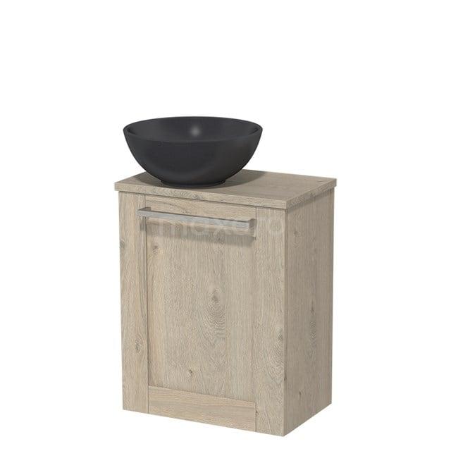 Toiletmeubel met Waskom Quartz Modulo Lichtgrijs Eiken 41 cm TMK10-00098