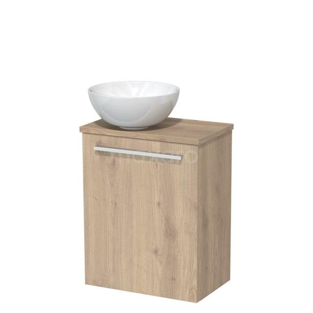 Toiletmeubel met Wastafel Keramiek Modulo Lichtbruin Eiken 41 cm TMK10-00099
