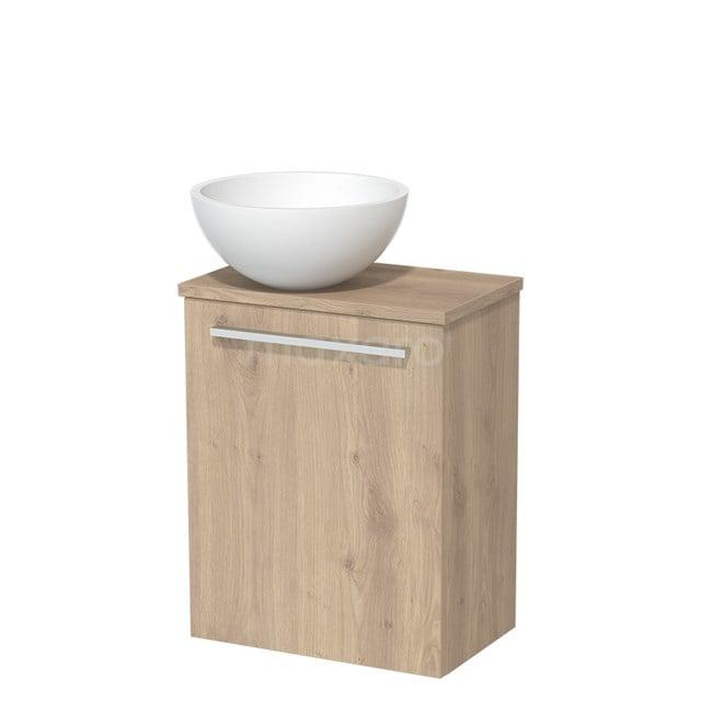 Toiletmeubel met Wastafel Solid Surface Mat Modulo Lichtbruin Eiken 41 cm TMK10-00104