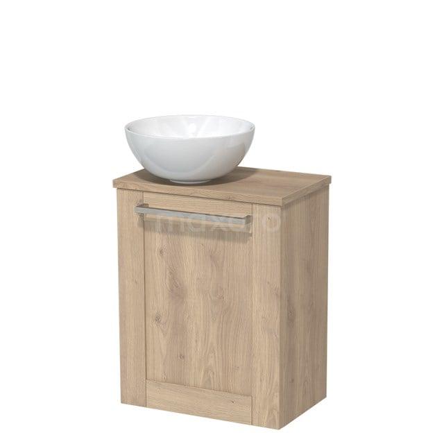 Toiletmeubel met Wastafel Keramiek Modulo Lichtbruin Eiken 41 cm TMK10-00106