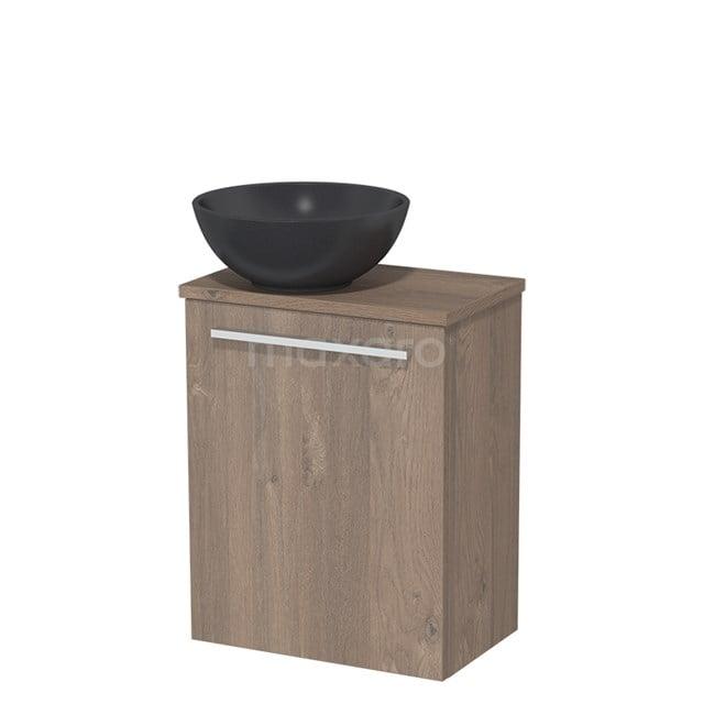 Toiletmeubel met Wastafel Quartz Modulo Middenbruin Eiken 41 cm TMK10-00119