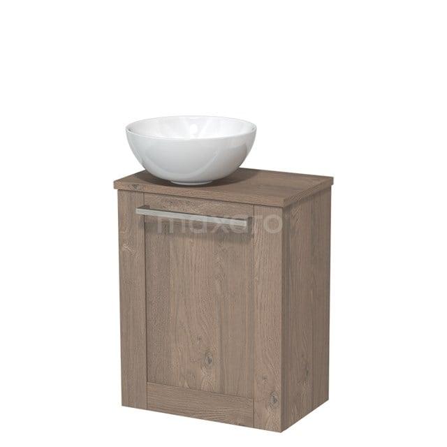 Toiletmeubel met Wastafel Keramiek Modulo Middenbruin Eiken 41 cm TMK10-00120