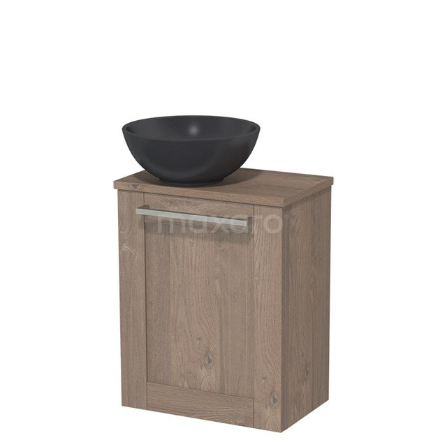 Toiletmeubel met Wastafel Quartz Modulo Middenbruin Eiken 41 cm TMK10-00126