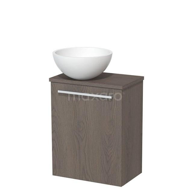 Toiletmeubel met Waskom Solid Surface Mat Modulo Donkerbruin Eiken 41 cm TMK10-00132