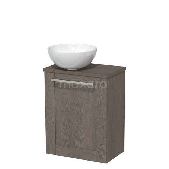 Toiletmeubel met Waskom Keramiek Modulo Donkerbruin Eiken 41 cm TMK10-00134