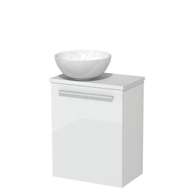 Toiletmeubel met Waskom Keramiek Modulo Hoogglans Wit 41 cm TMK10-00169