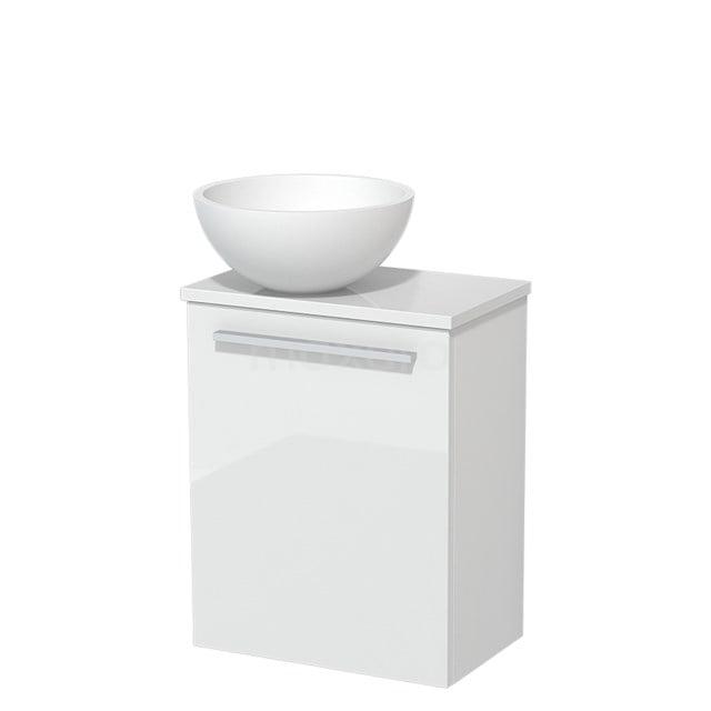 Toiletmeubel met Waskom Solid Surface Mat Modulo Hoogglans Wit 41 cm TMK10-00173