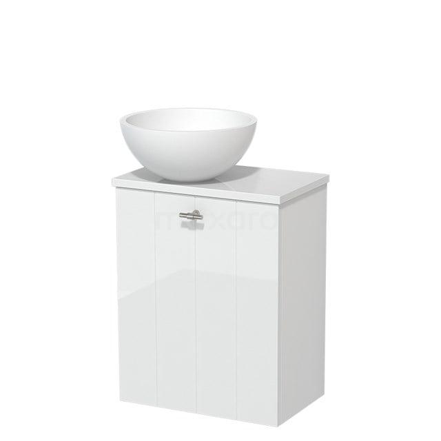 Toiletmeubel met Waskom Solid Surface Mat Modulo Hoogglans Wit 41 cm TMK10-00179