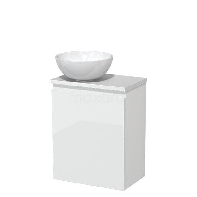 Toiletmeubel met Waskom Keramiek Modulo Hoogglans Wit 41 cm TMK10-00181
