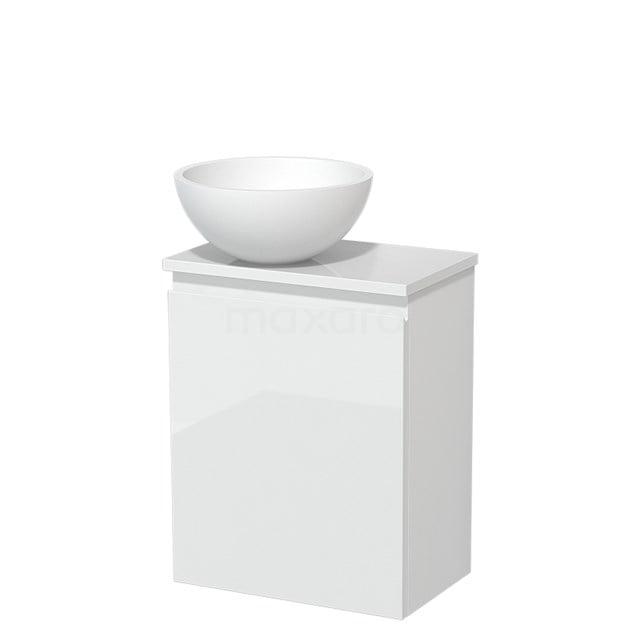 Toiletmeubel met Waskom Solid Surface Mat Modulo Hoogglans Wit 41 cm TMK10-00185