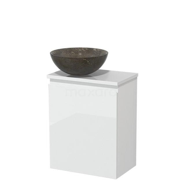 Toiletmeubel met Waskom Natuursteen Modulo Hoogglans Wit 41 cm TMK10-00188